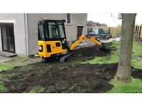 Micro Digger & Mini Digger Hire, Dumper hire, Site & Garden clearences Fife Edinburgh Dundee Perth