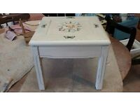 shabby chic small occassional table / footstall