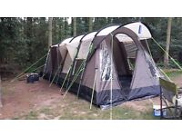 Fantastic 4 berth tent. Practicality unused!