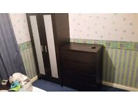 IKEA wardrobe and chest of draws for sale!