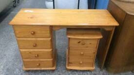 Pine Bedroom Desk And Set of Drawers. Del Available