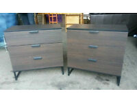 Pair of Brown Chest of Drawers