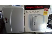 Brand new Morphy Richards mini cooler fridge with in car charger and home charger