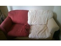 Comfortable Sofa, Settee. Re washable cover. Like New Underneath.