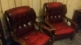 Chesterfield sofa and chairs 200