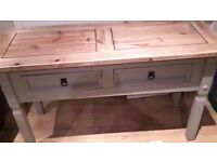 large solid wood hall table,dressing table,desk/sideboard or perfect beside sofa with lamp or photos