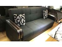 GREY MALTA STORAGE SOFA BED AVAILABLE IN 3+2 SET