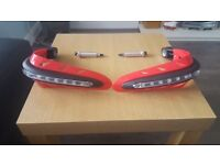 motorcycle handgards with built in indicators brand new