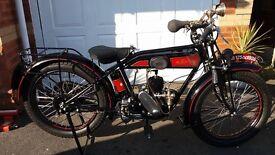 1928 Automoto A8 Vintage Flat Tank Motorcycle