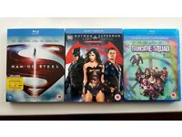 DC Bluray Collection - Man of Steel, Batman v Superman Ultimate Edition, Suicide Squad 3D