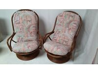 Swivel/rocking conservatory chairs