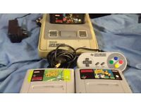 snes console complete with games