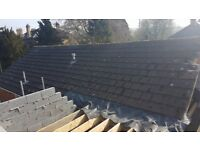 Redland Stonewold roof tiles 871887 grey £1.50 per tile available next week over 1000 tiles