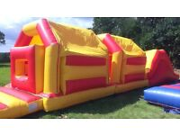 12ft x 45ft Bouncy Castle/Obstacle Course with blowers