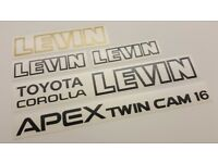 JDM Toyota Corolla Levin Sprinter Trueno AE92 Rear APEX Twin Cam 16 Decal OEM