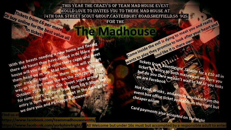 Dare You Enter Are Halloween Madhouse In Sheffield South
