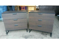 Pending Collection Pair of Brown Chest of Drawers
