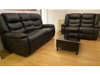 �BEAUTIFUL Excellent Quality CHICAGO BLACK RECLINER 3+2 SOFA �Grand Sale Offer With 1year Warranty