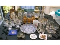 Mixed lot of glassware