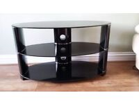 John Lewis Glass Oval TV Stand