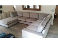 Large Corner Sofa with puffy. Mint condition.