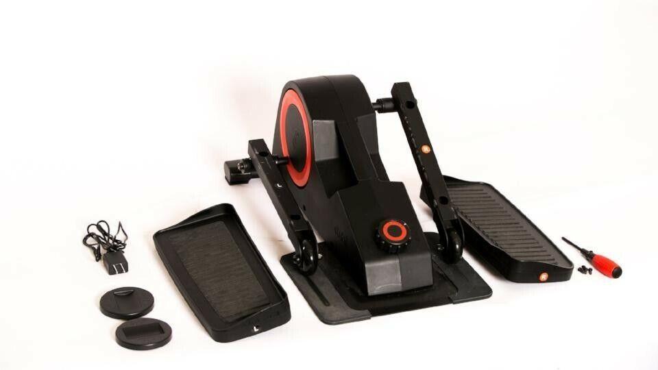 pro under desk elliptical black red new
