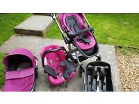 Graco symbio travel system in pink