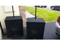 2 Reasound passive bass speakers , CPD1600 Amp & dbx 223xs Crossover + Cables £580