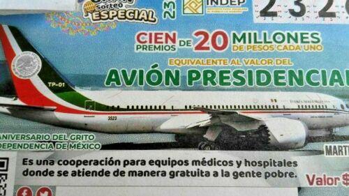 AVION PRESIDENCIAL MEXICO CACHITO BOLETO TICKET RAFFLE SALE PRESENT GIFT REGALO!