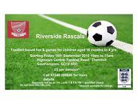 FOOTBALL FUN FOR LITTLE ONES RIVERSIDE RASCALS