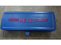 Vintage Heyco metric AF ratchet socket set 1/2