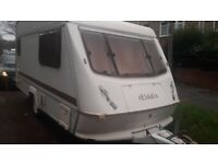 caravan eldiss 2 berth 1996 model ready to use with awning light and east to tow bargain