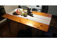 Industrial Style Bistro dining table & 4 chairs