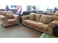 Collins and Hayes luxury 2 seater sofa with armchair