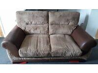 corded 2 seat sofa plus 2 cushions