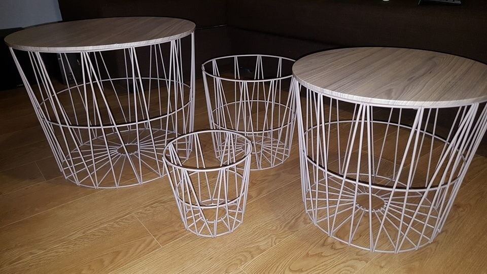 2 Wired Coffee Tables And 2 Waste Bins For Sale   In Salford, Manchester    Gumtree