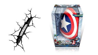 NEW 3D Light FX Marvel Captain America Shield Wall Light