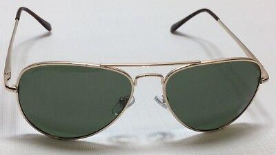 NEW Peppers Eyewear Freeway Gold G15 Mirror Aviator Polarized Sunglasses (Freeway Eyewear)
