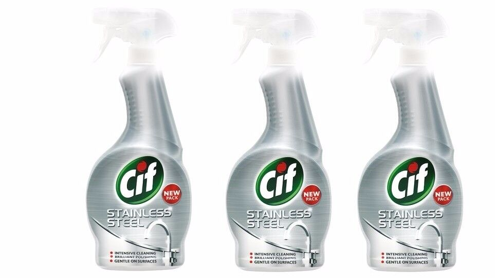 Brand New CIF Stainless Steel Spray 3-pack of 450 ml = 1350mL (80% off RRP)