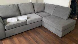 Nearly New Grey sofa
