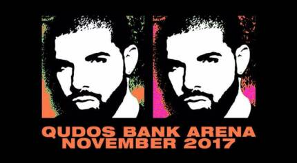 3 x DRAKE PREMIUM G.A. FLOOR Tickets Sydney Wednesday 8th Nov