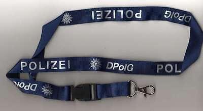 Polizei Gewerkschaft DpolG Schlüsselband Keyholder Lanyard Schlüsselanhänger
