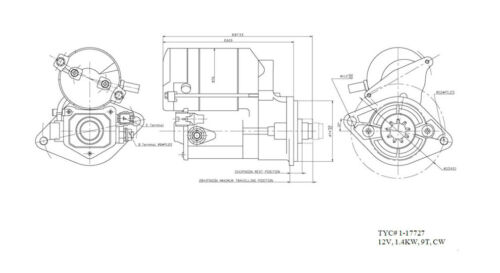 TYC 1-17727 Toyota Corolla Replacement Starter