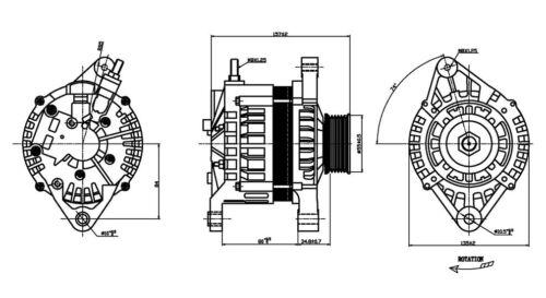 Alternator For 1998-2001 Nissan Altima 2.4L 4 Cyl 1999