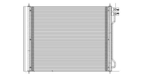 TYC 3753 Ford Econoline Van Parallel Flow Replacement Condenser