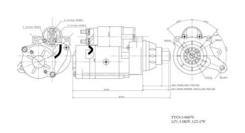 Starter Motor fits 2003-2010 Ford E-350 Super Duty F-250