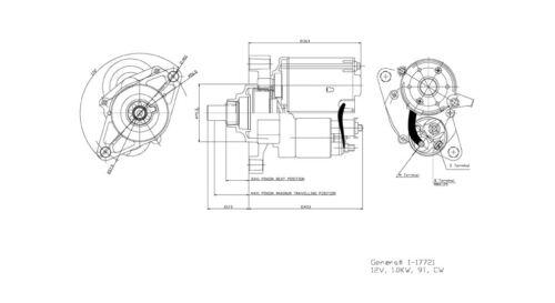 TYC Starter Motor for 1998-2005 Honda Civic 1.6L L4 1.7L L4 mu