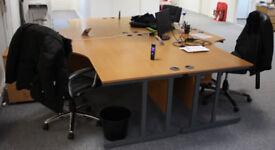 Details about Pod of 4 Corner Office Desks - Strong & Sturdy Furniture