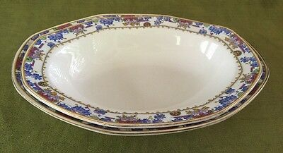 """Grindley """"CADORE"""" Pattern Oval Vegetable Bowls (2) 9"""" and 10"""" Sizes"""