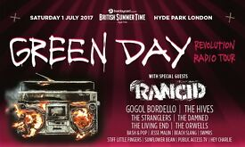 2 Green Day Tickets*** Hyde Park 1st July** British Summetime Festival **£100 for the Pair